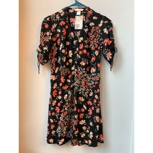 H&M A-line Floral Black Dress. New with tags!